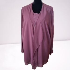 Foxcroft Women's Blouse Size 20w Chiffon Ruffle